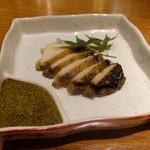 小石 - 「蒸し鮑 肝醤油仕立て」(1,400円)