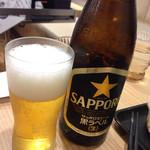 吉野家 - 瓶ビール(黒ラベル)410円