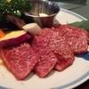 アリラン亭  - 料理写真:特選和牛カルビランチ¥1880のお肉