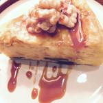 高品質珈琲と名曲 私の隠れ家 - カボチャとクルミのチーズケーキ