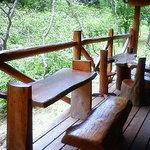 ウッディキッチン木土愛楽園 - テラス席で森林浴気分
