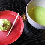 久連波 - 吉はしの上生菓子とお抹茶