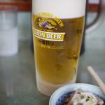つけめん参城 - 生ビール~☆