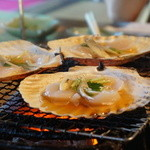 大松家 - 帆立の貝焼き