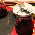 おず smoked和taste - グラスの赤