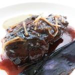 40944119 - 柔らかな牛胸肉の赤ワイン煮 生姜の香り 長茄子のムースリーヌ