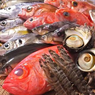 市場から直接仕入れるお魚