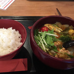 らぁじゃ - チキンのスープカレー  1280円