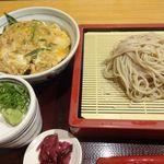 京都高台寺 天風 - カツ丼 蕎麦付き(990円)