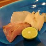 40957243 - 鱸、イサキ、鮑 煎り酒・山葵醤油で