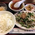 新京 - レバニラ炒めランチ