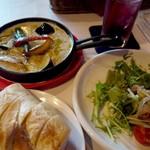 バルバニーカフェ - 彩り野菜のホワイトグリーンカレー