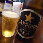 北海道らーめん 味源 - 黒ラベル中瓶