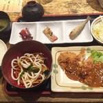 ふうり - 日替り定食(味噌カツ)(H27.8)