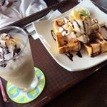 あるくカフェ - チョコバナナのフレンチトースト