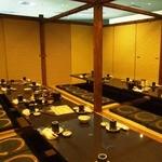 全席個室居酒屋 柚柚~yuyu~ - 団体様向けの宴会個室です。周りは扉で仕切られた完全個室です。