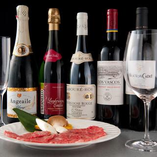 美味しいフランスワインも各種そろえております!