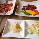 南大門 - ハラミ定食+カルビ