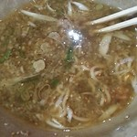 ラーメン専科たかみち - 食べてる途中の担々麺(笑)