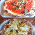 40974946 - ~Lacco Ameno~                       上:シチリアーナ、トマトソース激うま!                       下:イルリフージョ、チーズが優しい味わい