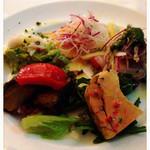 トラットリア グランボッカ - 前菜盛り合わせ。1人3000円でお願いしました。