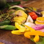 エンボカ - 薪焼き野菜の盛り合わせ