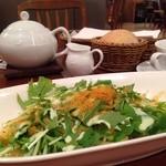 アフタヌーンティー・ティールーム - 2015年8月 北海道産黒枝豆とカラスミのアーリオオーリオと、パン・紅茶♪