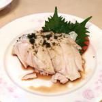 煌蘭 - 蒸し鶏の冷菜 山椒ソースがけ