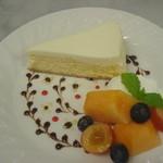 ティーカフェ - レアチーズケーキ
