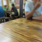 天龍 - カウンター席・テーブル席・小上がりがあります。       満席の場合は、店の外で待つシステムみたいです。