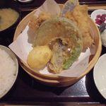 天ぷら海鮮 五福 - 鶏天定食 2015.07.31