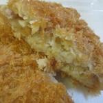 佐藤鶏肉店 - 牛肉ではなく自慢の鶏肉を使った地鳥コロッケです。