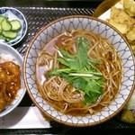 三品 - ごぼう天(温)小豚丼