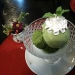 40991766 - デザート 抹茶わらび餅ミニパフェ