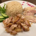 40999525 - カオマンガイ パソム(蒸し鶏&揚げ鶏)