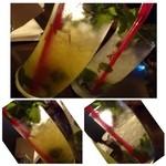 41000525 - ◆モヒート・・其々950円                       左:オレンジモヒート・・ほんのりオレンジの味がします。薄めですが、暑い日にはスッキリしますよ。                       右:ジンジャーモヒート