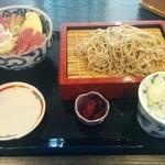 味乃魚隆 - 海鮮丼と十割蕎麦セット