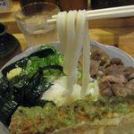 41001607 - 男の肉ぶっかけ(冷、中盛)の麺アップ(2015.08)