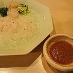 酒月 - 大分本かわはぎ(1800円)。