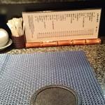 41004632 - 1階カウンターと寿司メニュー