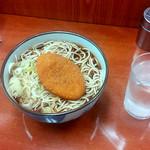 うさぎや - コロッケそば大盛(490円)