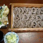 41007438 - 「五合そば」と「野菜天ぷら」