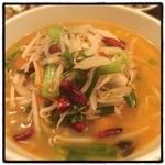 龍泉飯店 - ピリ辛麺!結構辛い!