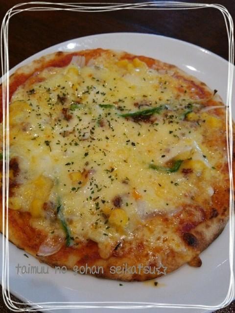 六花亭 福住店 - コーンのピザ♪