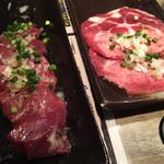石岡ホルモン - 料理写真:ハツとタン