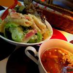 クックライトキッチン - コンソメスープと野菜たっぷりサラダ