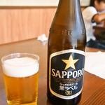 茶しん - ビールはサッポロ