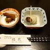 福政 - 料理写真:2015.08 突き出し?さざえとマグロの角煮