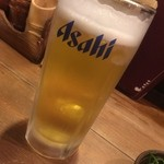 鳥造 - アサヒスーパードライ・生ビール(中)(¥450)