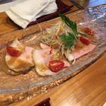 猪之鼻庭 - ローストポークと千切り野菜のカルパッチョ仕立て/1000円